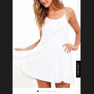 Lulus easy honey ivory slip dress